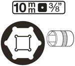 Douille pour cle, six pans 10 mm (3/8)