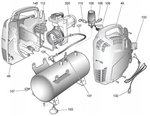 Compresseur sans huile 8 bars 6 liter, 385x170x465mm