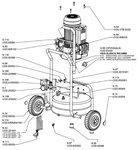 Compresseur de chantier mobile 10 bars, 24 liter