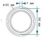 Prise pour écrou de transmission (bus 8 vitesses) scania 65mm