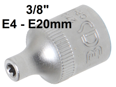Douille pour cle, profil E 10 mm (3/8)