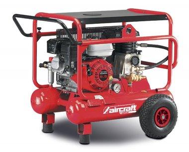 Compresseur de chantier essence mobile 10 bars - 2x10 litres